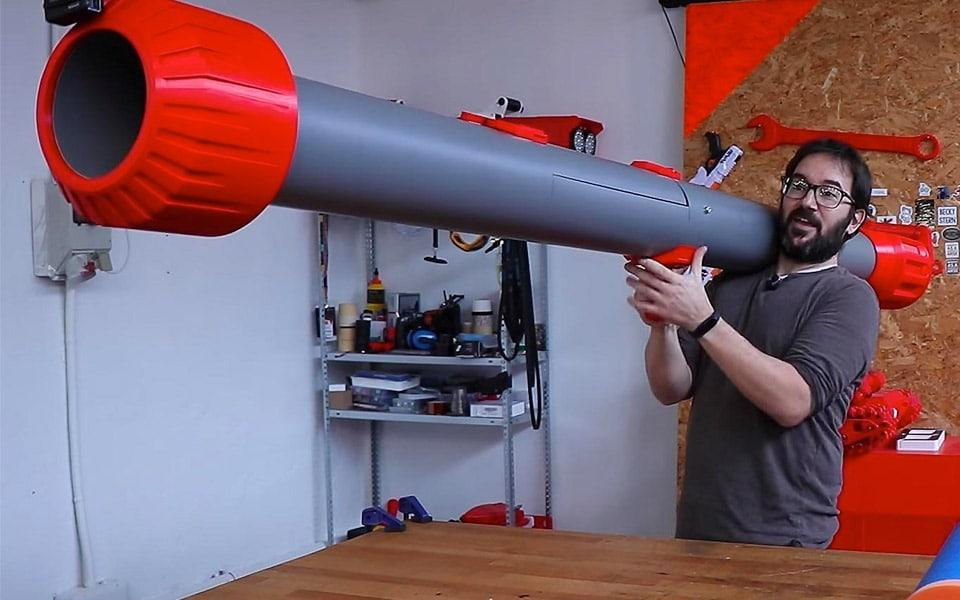 Sådan bygger du en kæmpe Nerf Bazooka
