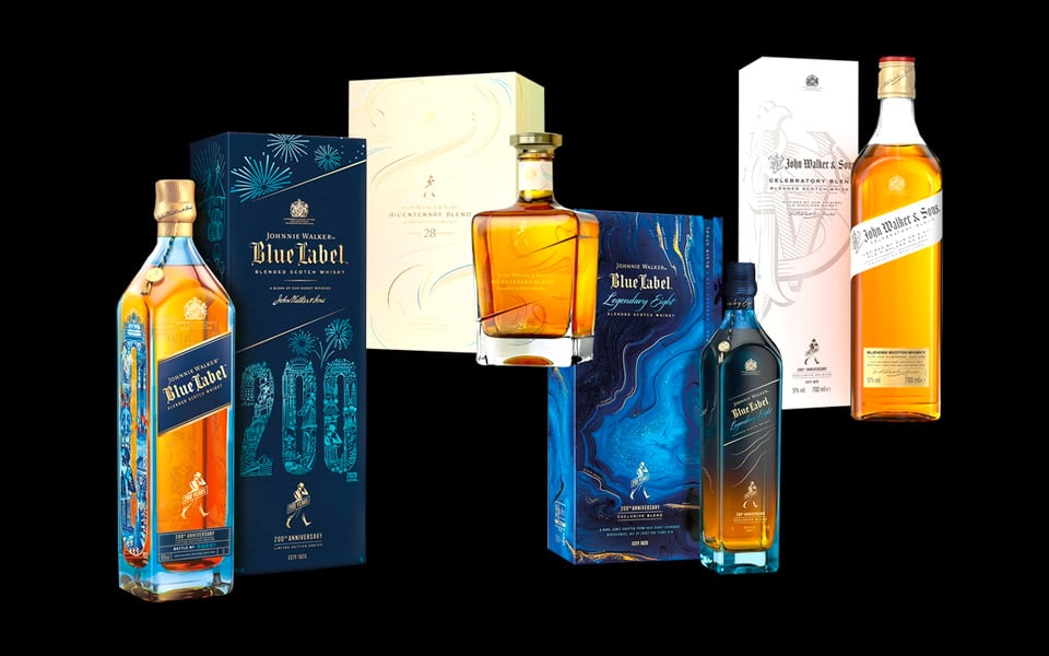 Johnnie Walkers 200 år fødselsdag fejre med 4 nye flasker